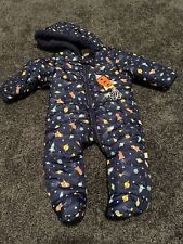 Duck Duck Goose Baby Boys Winter Footed Snow Snowsuit, 6-9m, Excellent Condition