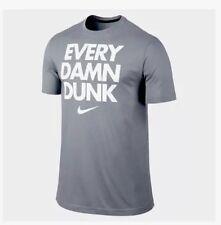 "New $28 Nike Basketball Dri-Fit ""Every Damn Dunk"" T-Shirt Tee Top L Xxl Grey"