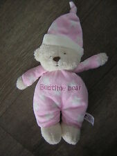 MOTHERCARE PINK STAR BEAR SOFT TOY