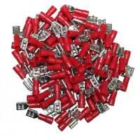 COSSES ELECTRIQUES ISOLEES A SERTIR FEMELLES ROUGES 6.3 PARTIELLEMENT ISOLEES