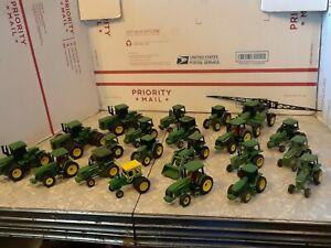 20 John Deere ERTL DieCast Farm TRACTORS 1:64 Scale 1 sprayer 21 pieces total