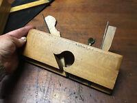 """Antique Mathieson & Son Glasgow Boxed Centre 3/8"""" Channel/Moulding Plane."""