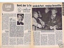 Coupure de presse Clipping 1980 Bourvil et la Traversée de Paris  (2 pages)