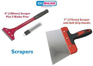 """7"""" (175mm) / 4"""" (100mm) Scraper Heavy Duty Wallpaper Scraper Remove Wallpaper"""