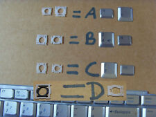 DELL INSPIRON 1520 1521 1525 ANY KEY IN SILVER, 4 CLIP TYPES! LOOK AT PICTURES!!