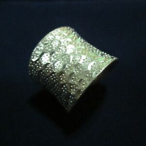 Fine Silver Rings Hill tribe Karen Argento Anello Band Tribal Multiple Dots