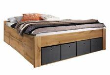 Bett Scala 180x200 Stauraumbett Komfortbett Schubkästen 4xStoffboxen Eiche Wotan