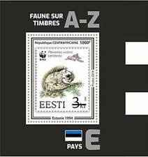 Central Africa 2019 WWF Fauna on Stamps - Stamp Souvenir Sheet - CA190512b05