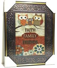 FAITH - FAMILY - FRIENDS  Inspirational Wall Picture,Wall Plaque (NEW)