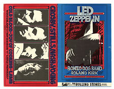 Bill Graham 199 200 Double Postcard Mailed Led Zeppelin CSNY 1969 Nov 6