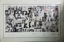 """Rolling Stones Exile on Main Street 36"""" x 24"""" Lithograph Art 1507/5000 Musicom"""