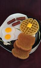 Hungry Man's Breakfast Set,Wax Fake Food, Props, Display