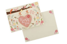 'I Love You' Card & Hanger/Hanging Detachable Heart/Plaque With Envelope