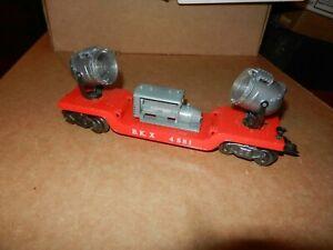 MARX #4581 BKX  Two Searchlight Car, Red, 8 Wheel, Original