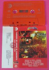 MC FABRIZIO DE ANDRE' CON arrangiamenti LA PFM in concerto 1979 no cd lp vhs dvd