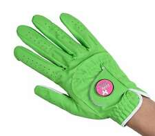 Ladies Golf Gloves Large Left Hand Lime Green Lady Classic Soft Flex Ball Marker