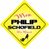 Mrs Philip Schofield On Board Novelty Car Sign