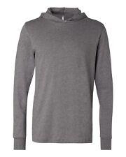 Canvas Unisex Driftwood Long Sleeve Hooded T-shirt Hoodie Tee Jumper Size XS-2XL