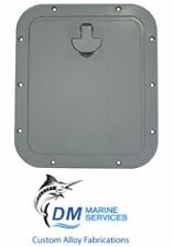 Deluxe Grey Marine Hatch with Removable Hinged Lid 356 x 310mm