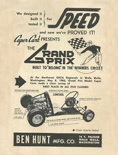 Vintage & Very Rare 1960 Caper Cart Grand Prix Go-Kart Ad