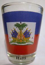 HAITI FLAG SHOT GLASS SHOTGLASS