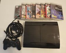 Sony PlayStation 3 Super Slimline 500GB Charcoal Black Console + 8 Games