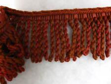 Red Bullion fringe 10cm fabric upholstery trimming SOLD PER MT