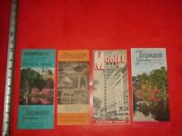 BC272 Vintage LOT 4 Travel Brochures Mobile Alabama Attractions