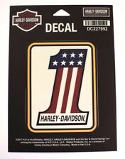 Genuine Harley Davidson Vintage Style American Flag Number One #1  Decal Sticker