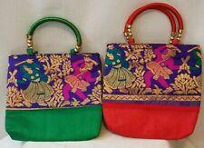2 Womens Mini Tapestry Hand Bags