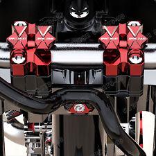 "7/8"" 1 1/8"" Widen CNC Billet Handle Bars Fat Bar Mount Clamps Riser For Yamaha"