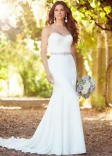 Crystal/Diamante Chiffon Strapless Wedding Dresses
