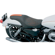 Drag Specialties Orange Flame Stitch Predator Seat for 04-14 Harley Sportster XL