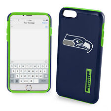 """For iPhone 6  6s  Plus 5.5""""  Screen Size Seattle Seahawks Dual Hybrid Case New"""