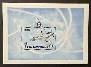 GAMBIA WORLD WAR II SPITFIRE 1A STAMPS 1990 MNH WWII AIRPLANE MILITARY AIRCRAFT