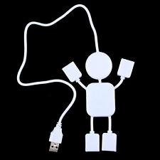 2015 New Cute 4 Port Hub High-Speed USB 2.0 Humanoid Splitter Cable Adapter