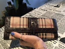 Burberry Prorsum Checkered crochodile finitions en cuir portefeuille