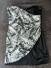 womens size 10 black and silver dress from divided h and m