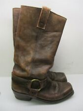 UNBRANDED Boots Men's Size 7 D Work Western Cowboy Tall Brown Leather