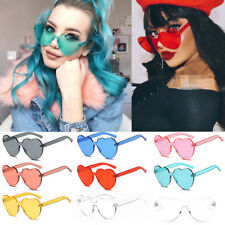 Large Oversized Womens Lolita Heart Shaped Sunglasses Fashion Cute Love Eyewear