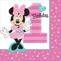 BABY MINNIE MOUSE FUN TO BE ONE LUNCH NAPKINS PACK OF 16 PARTY FAVOURS SUPPLIES