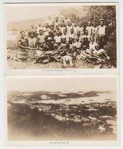 B7299 : (2) 1930-40's Neuf Caledonia Véritable Photo Cartes Postales