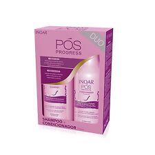Inoar Pos Proges - Kit Entretien Lissage brésilien - Shampoing + Conditionneur