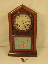 "Antique Wm. L Gilbert Mantle Clock Runs & Chimes ""Look"""