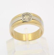 ♦ Solitär Ring in 18 kt 750er Gelb Gold Platin Brillant 2,13 ct Diamant Massiv