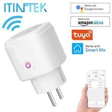 Enchufe inteligente WiFi Control remoto  temporizador para Tuya app Alarmas