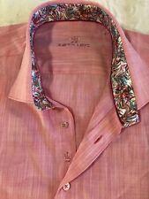 NEW BERTIGO  SHORT SLEEVE SHIRT PRINT size 2XL (EU 6) Dark Pink Cotton