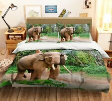3D Park Elephant Water R747 Animal Bed Pillowcases Quilt Duvet Cover Queen Kay