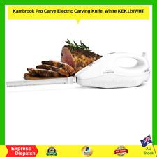Kambrook Pro Carve Electric Carving Knife White KEK120WHT NEW FREE SHIPPING AU