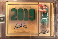 2019-20 Panini Instant Prime Cuts RPA RC GRANT WILLIAMS Rookie 1/10  CELTICS